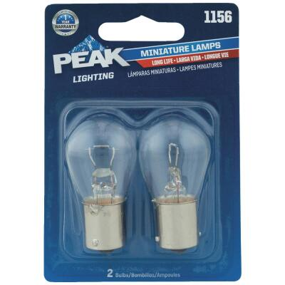 PEAK 1156 12.8V Mini Incandescent Automotive Bulb (2-Pack)