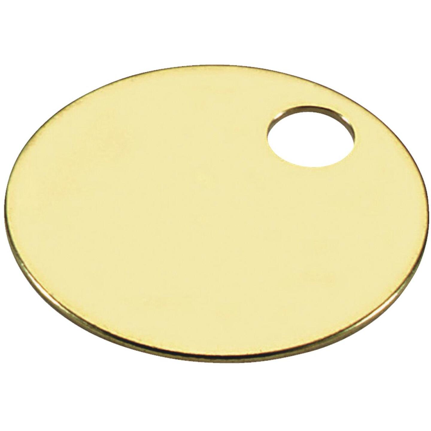Lucky Line Engravable Tag 1-3/8 In. Brass Key Tag, (100-Pack) Image 1