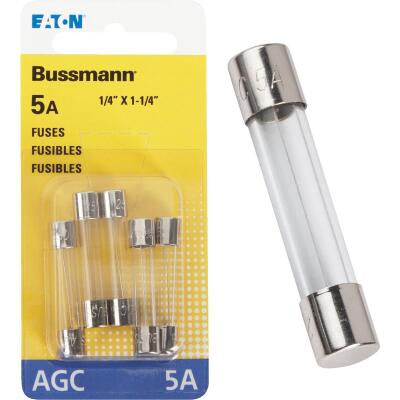 Bussmann 5-Amp 250-Volt AGC Glass Tube Automotive Fuse (5-Pack)