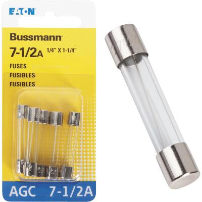 Bussmann 7-1/2-Amp 250-Volt AGC Glass Tube Automotive Fuse (5-Pack)