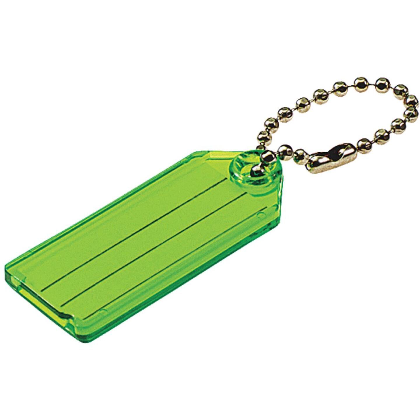 Lucky Line Transparent 2-1/4 In. I.D. Key Tag with Chain (100-Pack) Image 1
