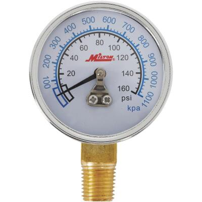 Milton 1/4 In. NPT Bottom Mount Pressure Gauge