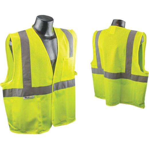 Radians Rad Wear ANSI Class 2 Hi Vis Green Safety Vest XL