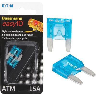 Bussmann 15-Amp 32-Volt ATM Blade Automotive Fuse (2-Pack)