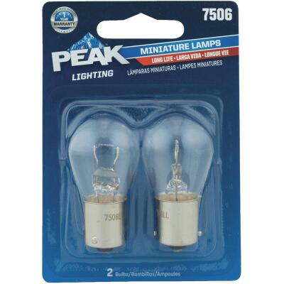 PEAK 7506 13.5V Mini Incandescent Automotive Bulb (2-Pack)