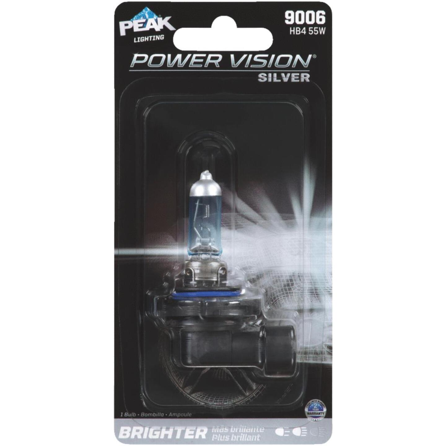 PEAK Power Vision Silver 9006 HB4 12.8V Halogen Automotive Bulb Image 1