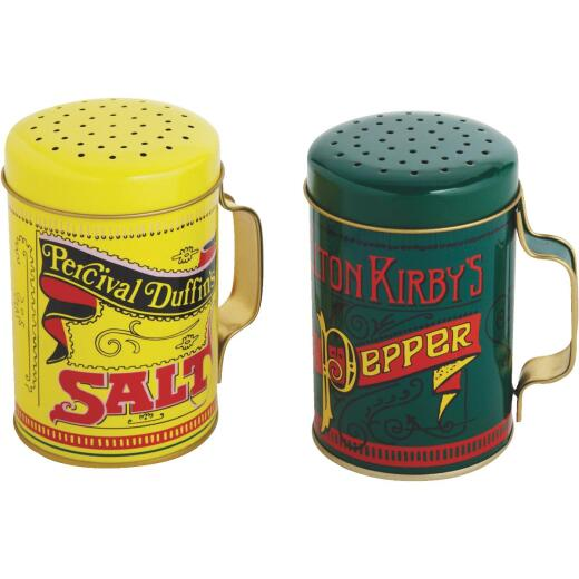 Norpro 10 Oz. Tin Nostalgic Salt & Pepper Shaker Set