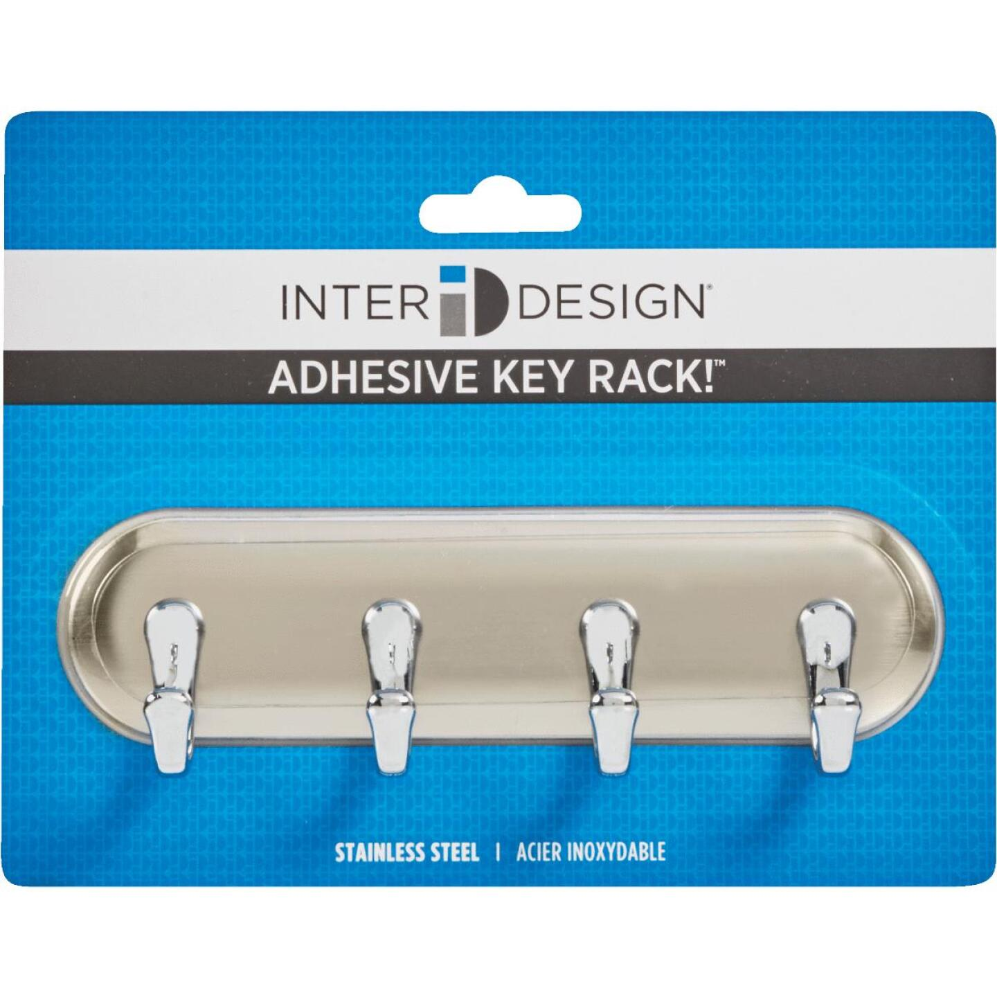 InterDesign Blumz Brushed Stainless Steel York Key Rack Image 2