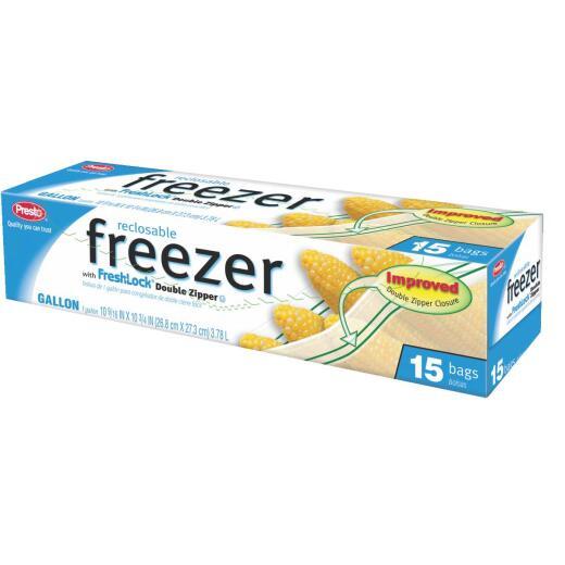 Presto 1 Gal. Reclosable Double Zipper Freezer Bag (15 Count)