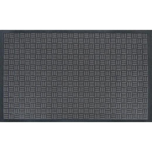 Apache Trapper Black 36 In. x 60 In. Recycled Rubber Door Mat