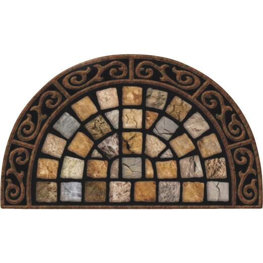 Apache Masterpiece Roman Road 22 In. x 36 In. Fiber/Recycled Rubber Door Mat