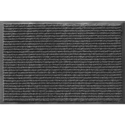 Apache Enviroback Onyx 48 In. x 72 In. Carpet/Recycled Rubber Door Mat