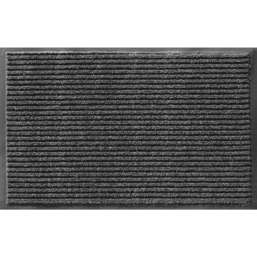 Apache Enviroback Pepper 18 In. x 27 In. Carpet/Recycled Rubber Door Mat
