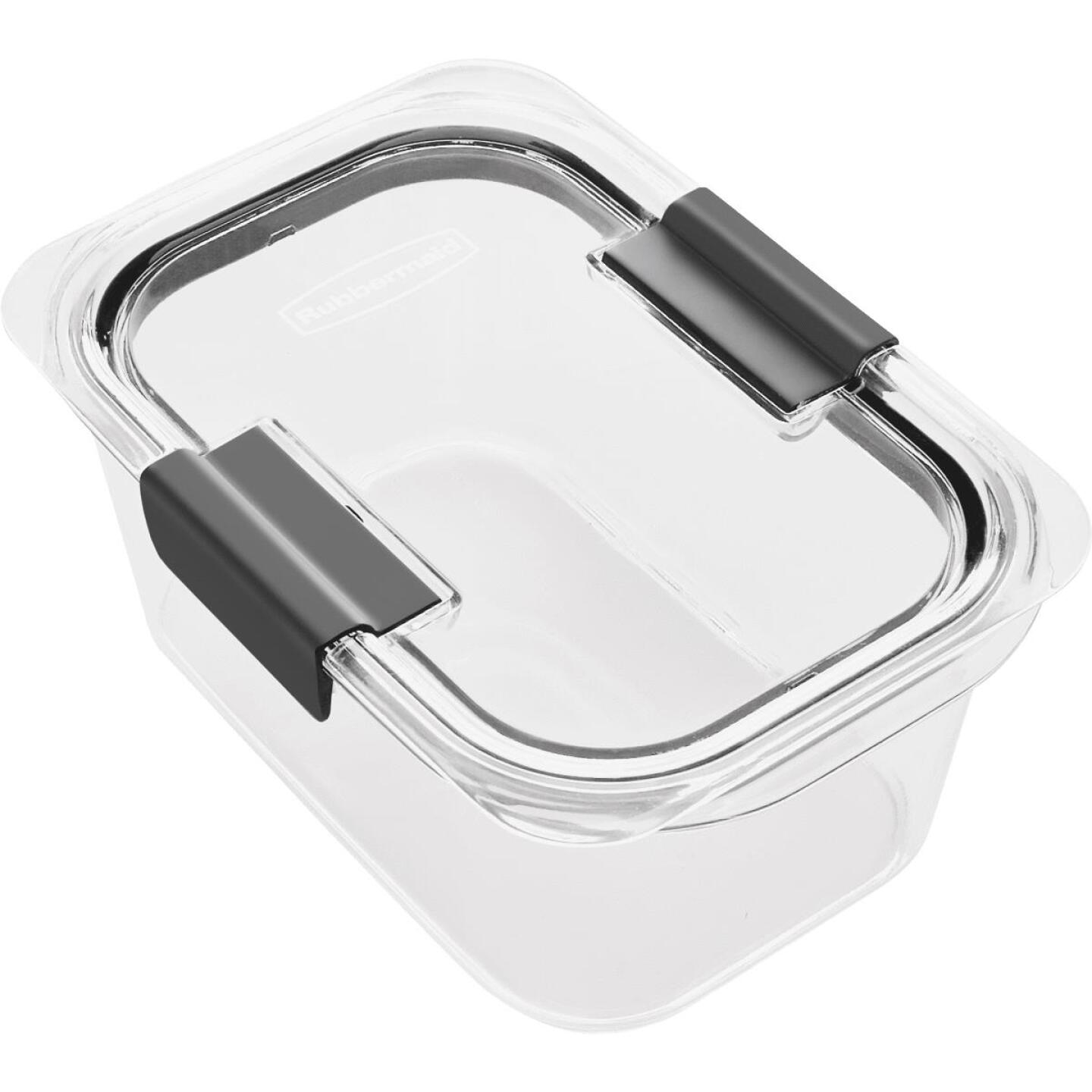 Rubbermaid Brilliance 4.7 C. Clear Rectangle Food Storage Container Image 1