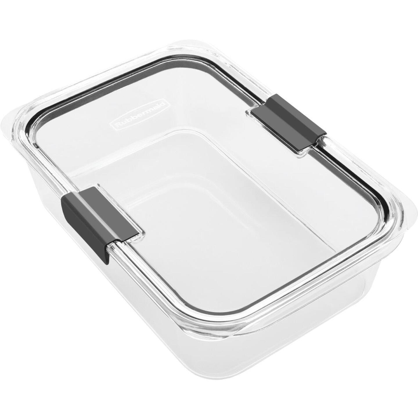 Rubbermaid Brilliance 9.6 C. Clear Rectangle Food Storage Container Image 1