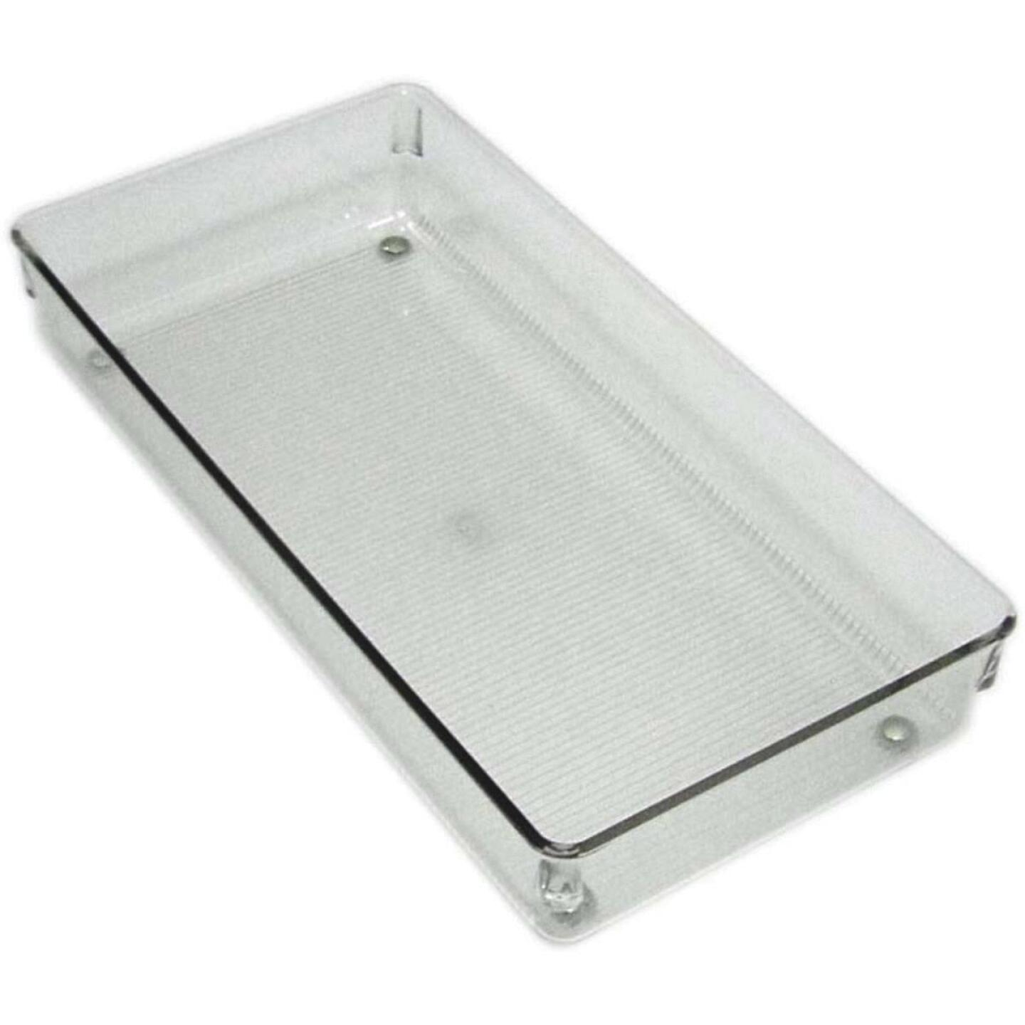 InterDesign Linus 6 In. W. x 12 In. L. x 2 In. D. Clear Drawer Organizer Tray Image 1