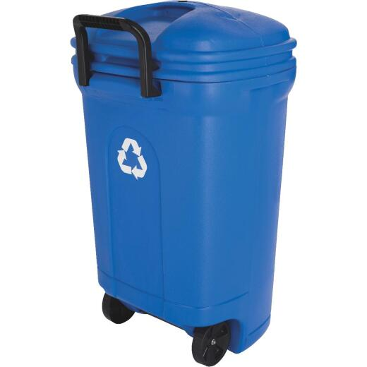 United Solutions 34 Gal. Recycling Trash Can with Lid