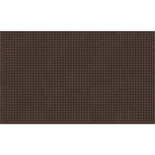 Apache Textures Walnut 36 In. x 48 In. Carpet/Recycled Rubber Door Mat