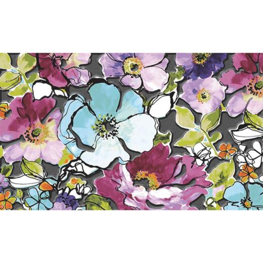 Apache Masterpiece Blossoms 18 In. x 30 In. Fiber/Recycled Rubber Door Mat