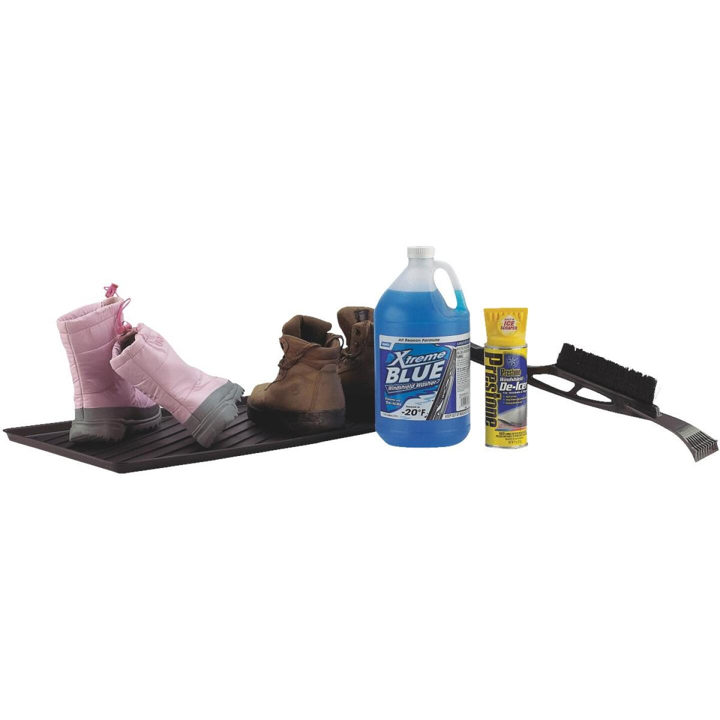 15.75 In. x 23.5 In. Black Recycled Plastic Rectangular Boot Tray Image 2