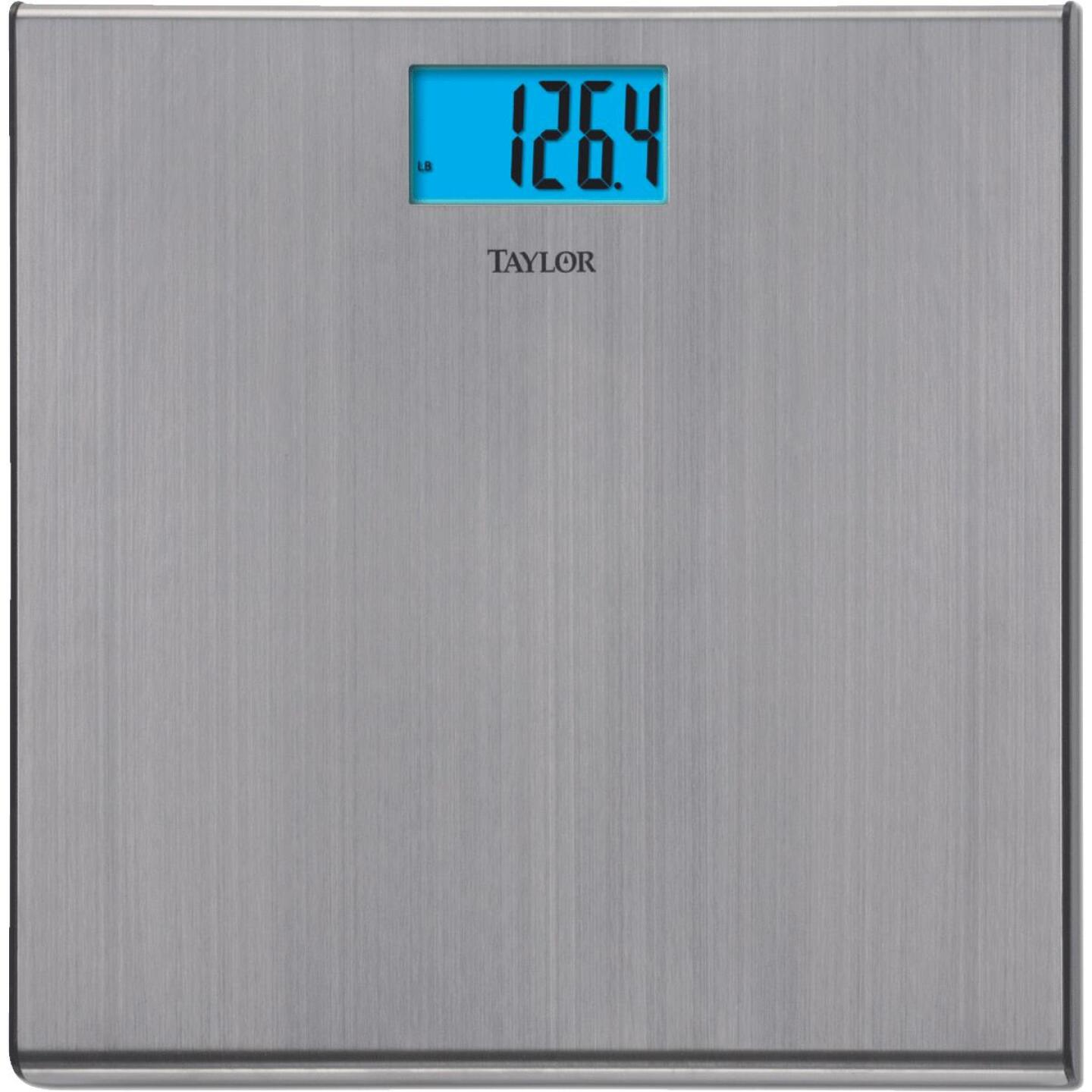 Taylor Digital 440 Lb. Stainless Steel Bath Scale, Silver Image 1