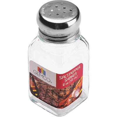 Gemco 2 Oz. Glass Square Salt & Pepper Shaker Set