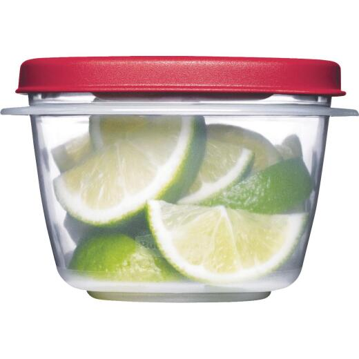 Rubbermaid Easy Find Lids 2 C. Clear Round Food Storage Container