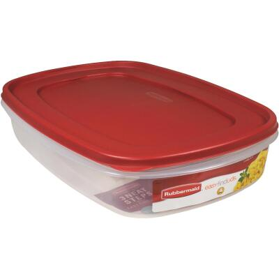 Rubbermaid Easy Find Lids 1.5 Gal. Clear Rectangle Food Storage Container
