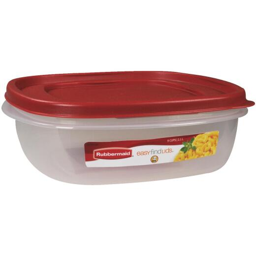 Rubbermaid Easy Find Lids 9 C. Clear Square Food Storage Container