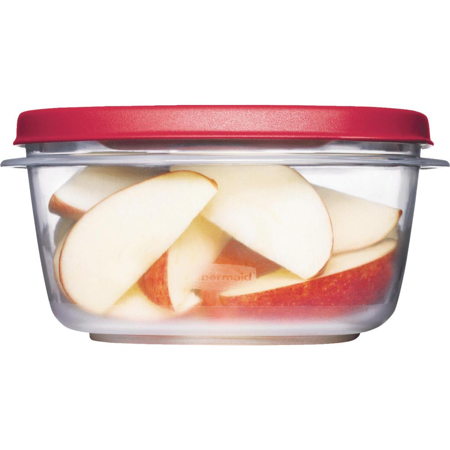 Rubbermaid Easy Find Lids 5 C. Clear Round Food Storage Container Image 1