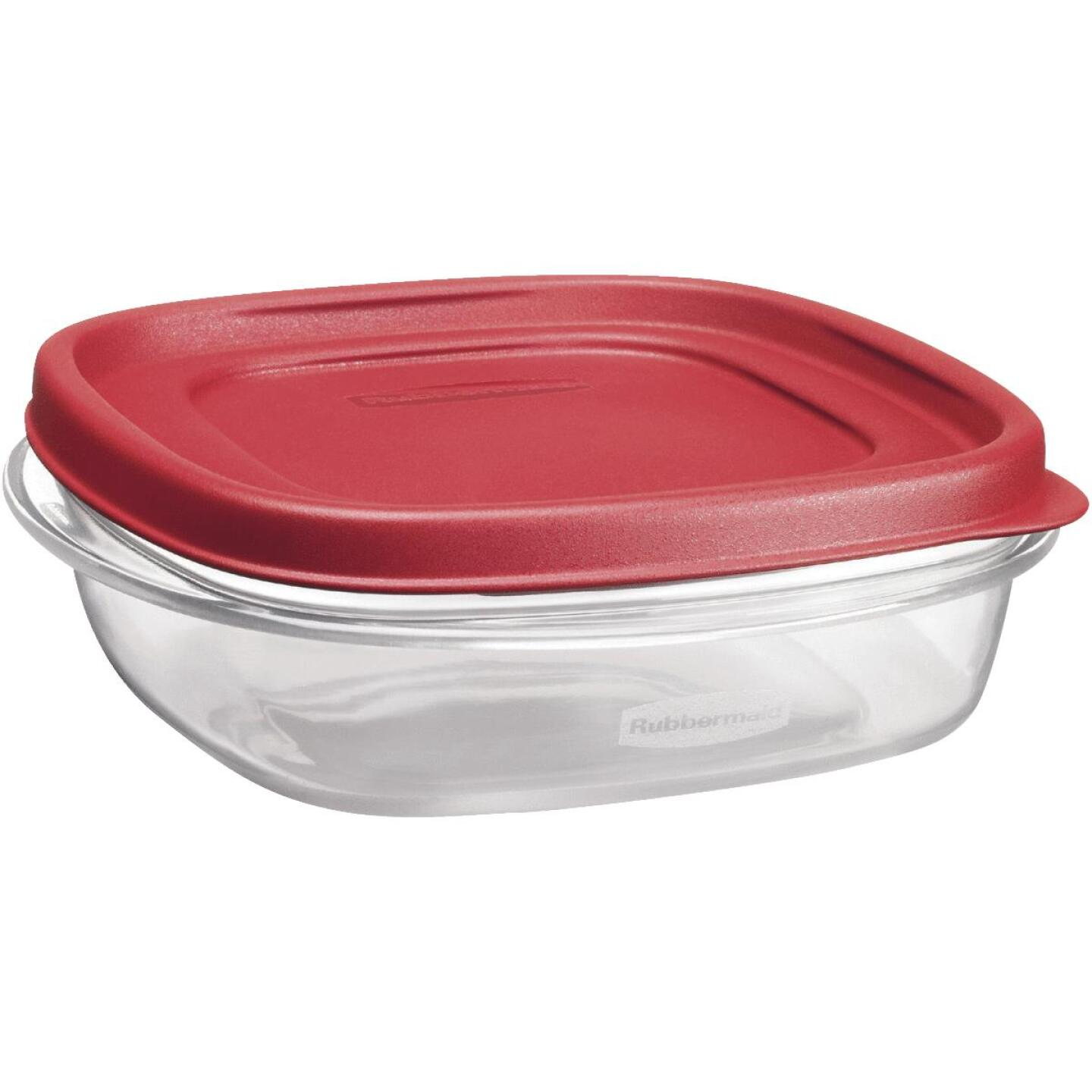 Rubbermaid Easy Find Lids 3 C. Clear Round Food Storage Container Image 2