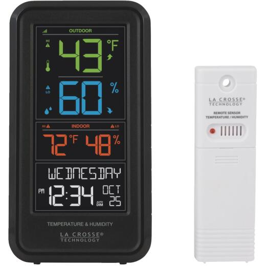 La Crosse Technology Wireless Color Personal Temperature & Humidity Weather Station