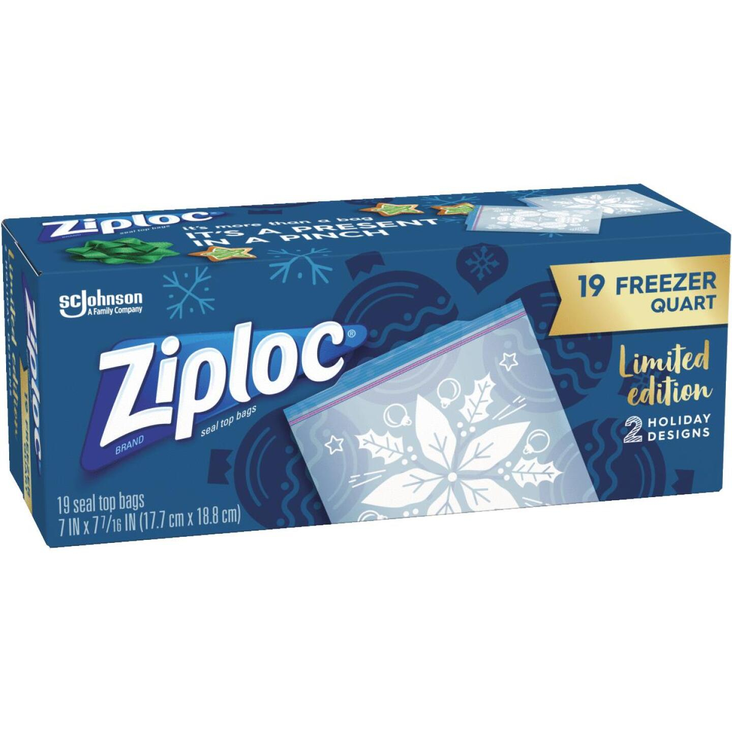 Ziploc Quart Holiday Freezer Bag (19 Count) Image 1