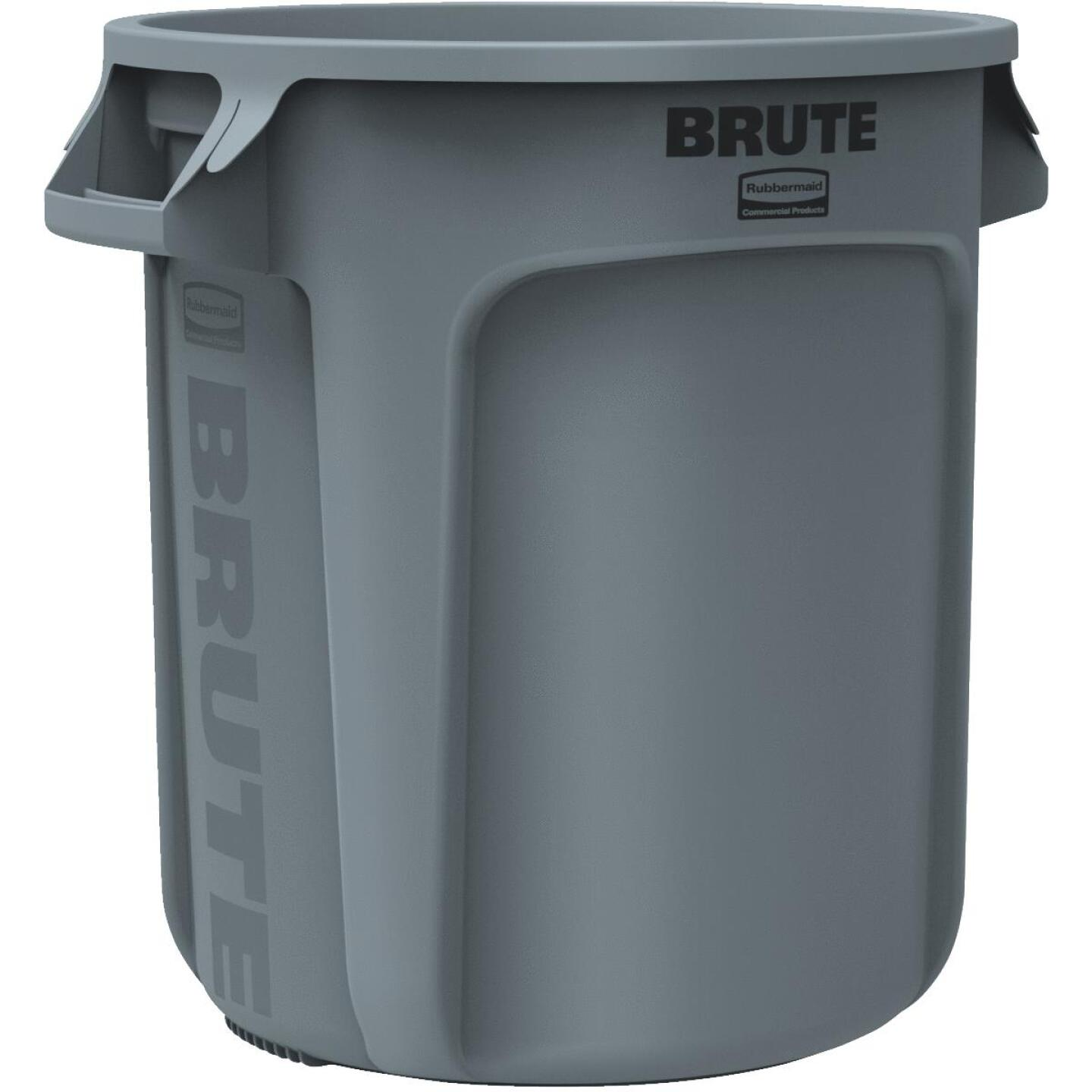 Rubbermaid Commercial Brute 10 Gal. Gray Vented Trash Can Image 1