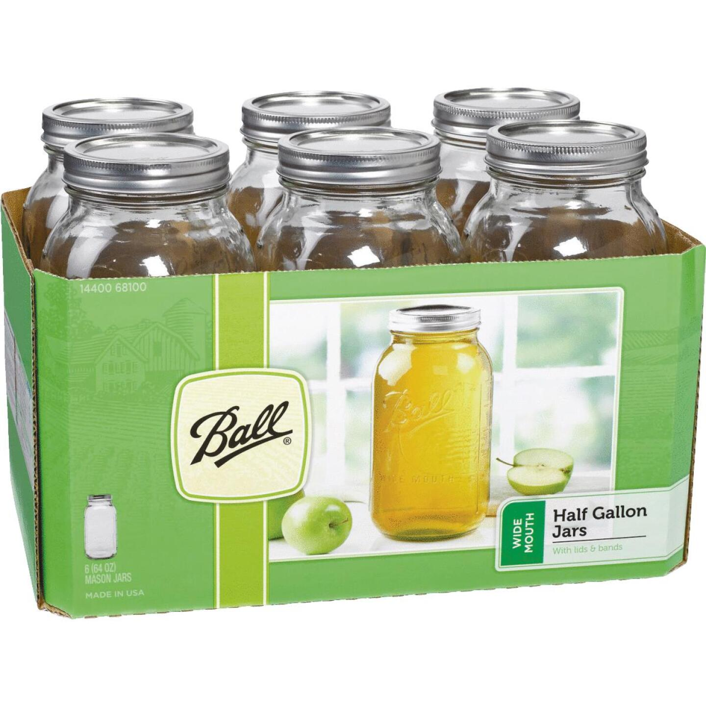 Ball 1/2 Gal. Wide Mouth Mason Canning Jar (6-Count) Image 1