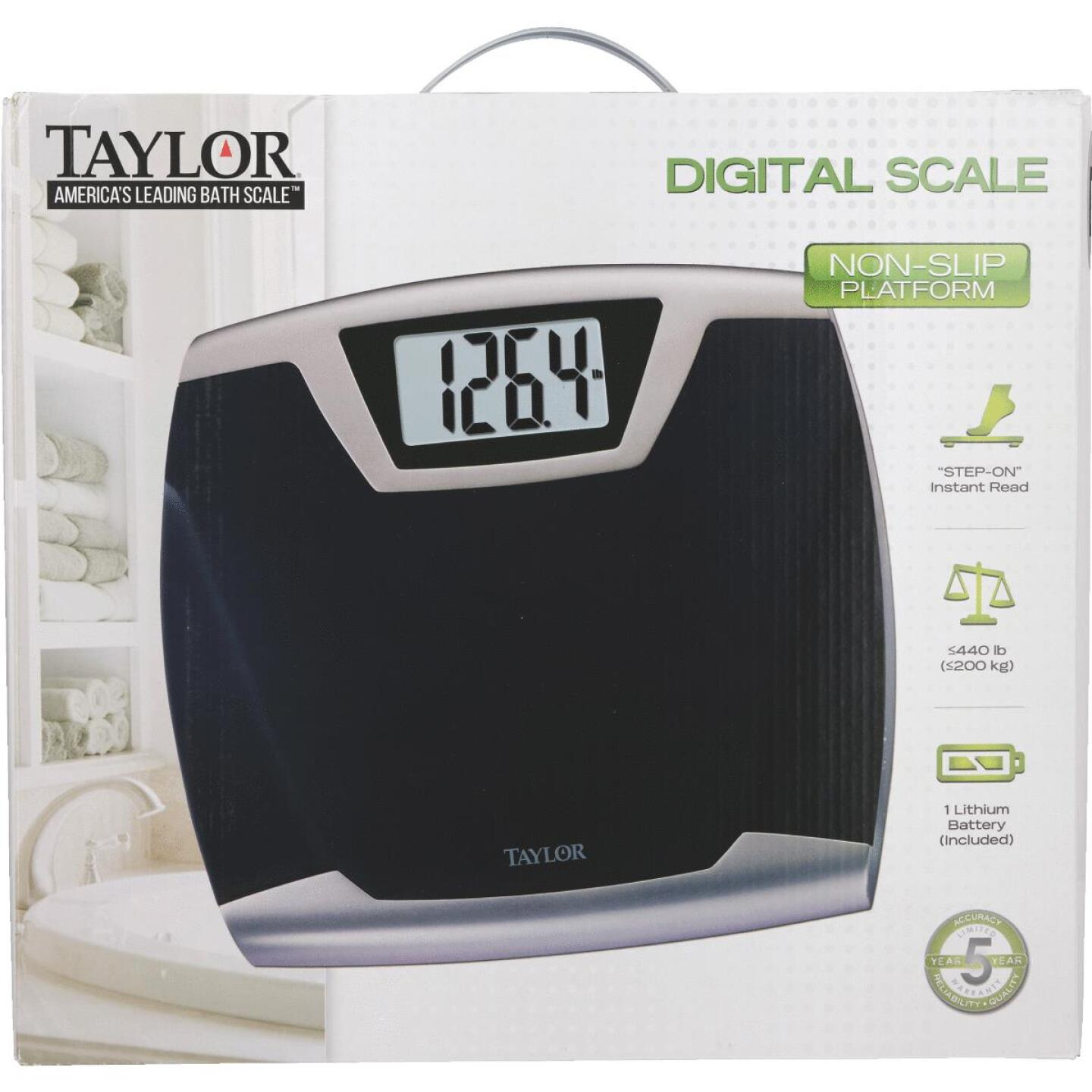 Taylor Digital 440 Lb. Bath Scale, Black Image 2