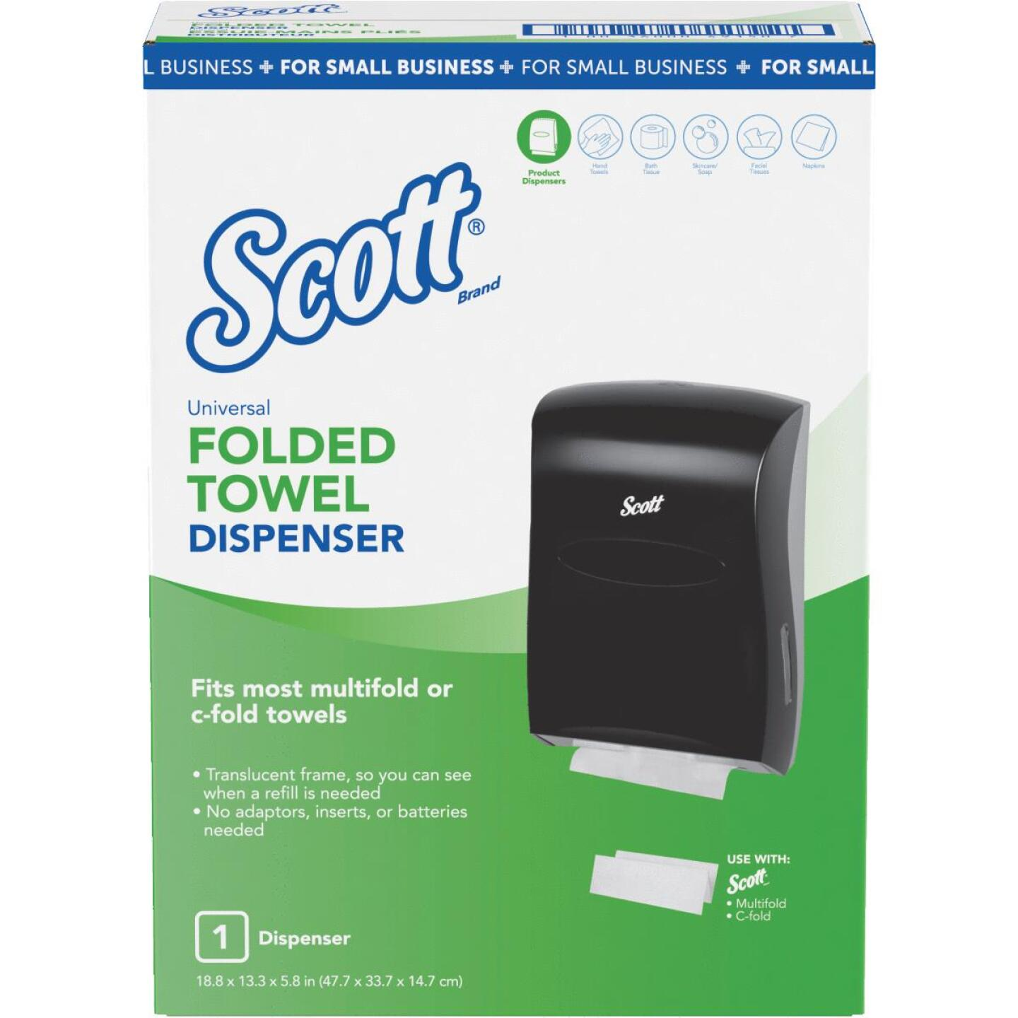 Kimberly Clark Scott Universal Folded Paper Towel Dispenser Image 1