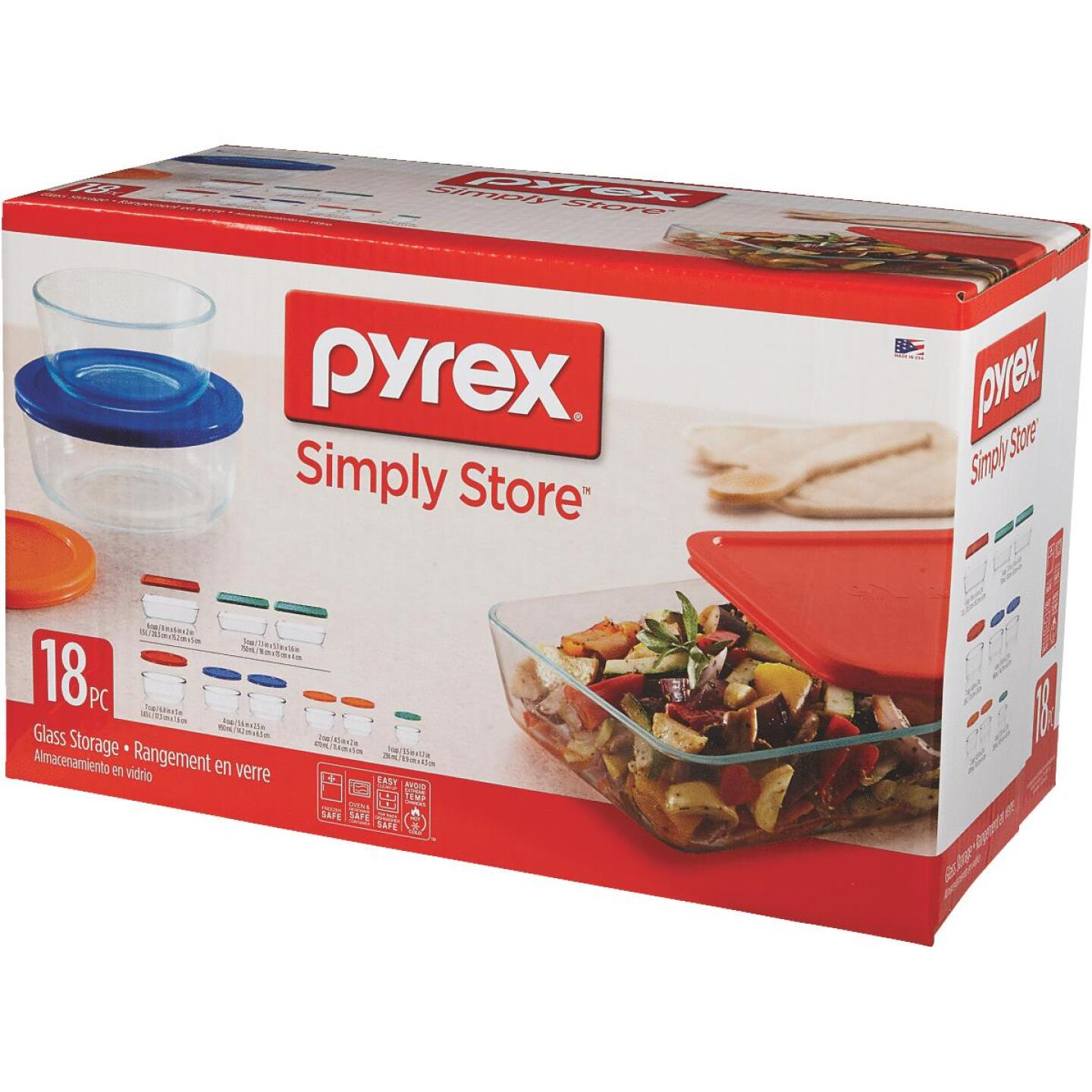 Pyrex Simply Store Glass Storage Container Set with Lids (18-Piece) Image 2