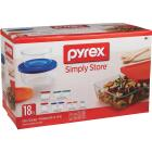 Pyrex Simply Store Glass Storage Container Set with Lids (18-Piece) Image 3