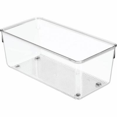 iDesign Linus 4 In. W. x 8 In. L. x 3 In. D. Clear Drawer Organizer Tray