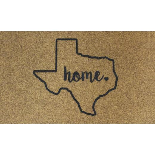 Americo Home 18 In. x 30 In. Tan KoKo+ Texas Home Door Mat