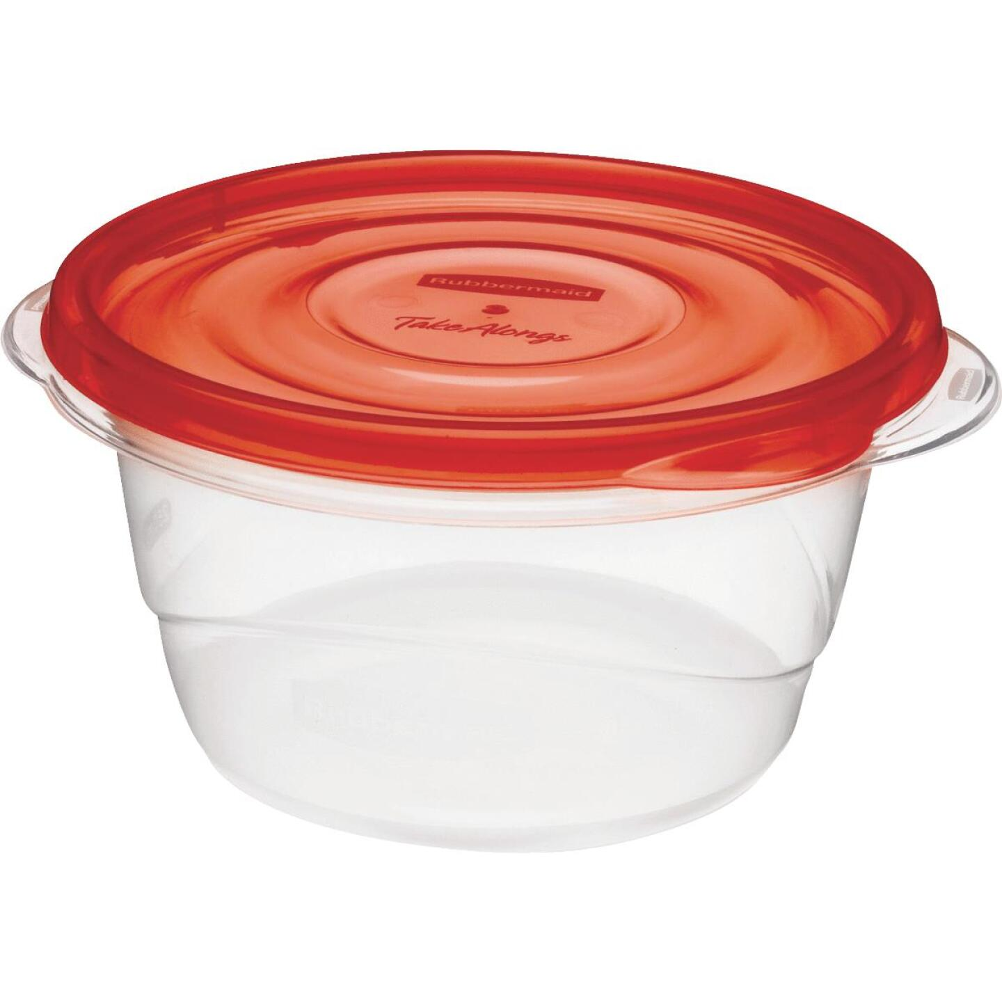 Rubbermaid TakeAlongs 3.5 C. Clear Round Food Storage Container with Lids (4-Pack) Image 2