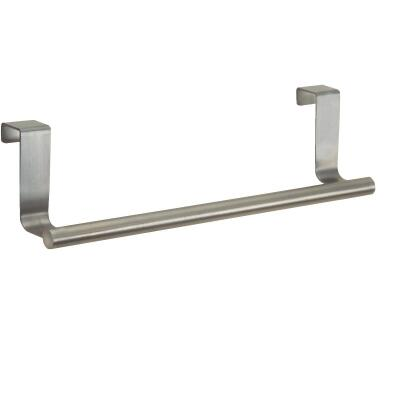 InterDesign Zia 9-1/4 in. Brushed Stainless Steel Over The Cabinet Double Towel Bar