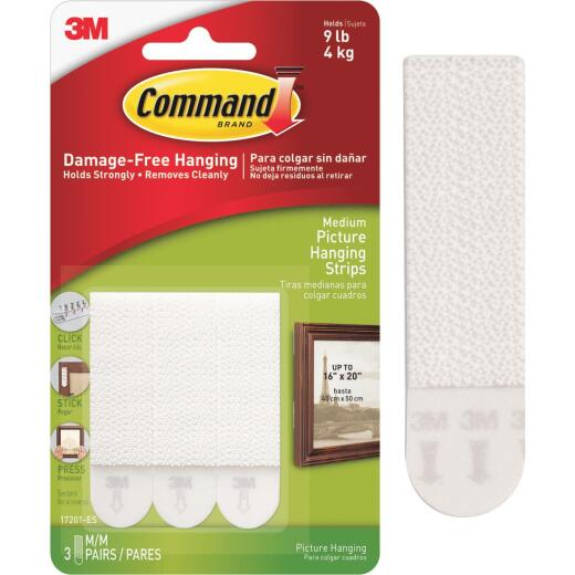 3M Command Up to 9 Lb. Weight Capacity 3/4 In. 2-3/4 In. Interlocking Picture Hanger (6-Pack)