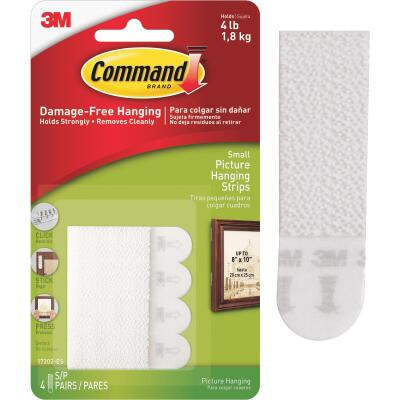 Command 5/8 In. x 2-1/4 In. White Interlocking Picture Hanger (8 Count)