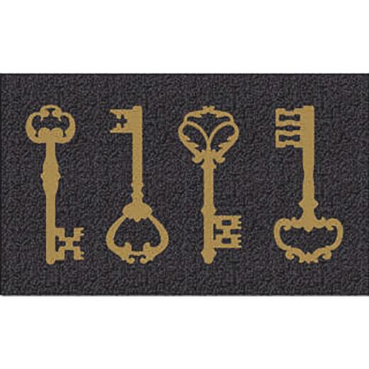 Americo Home Front Runner 18 In. x 30 In. Gold Vintage Keys Mat
