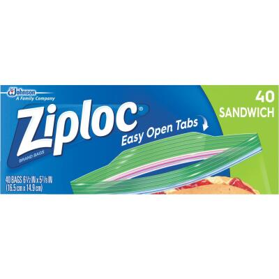 Ziploc Sandwich Food Storage Bag (40 Count)
