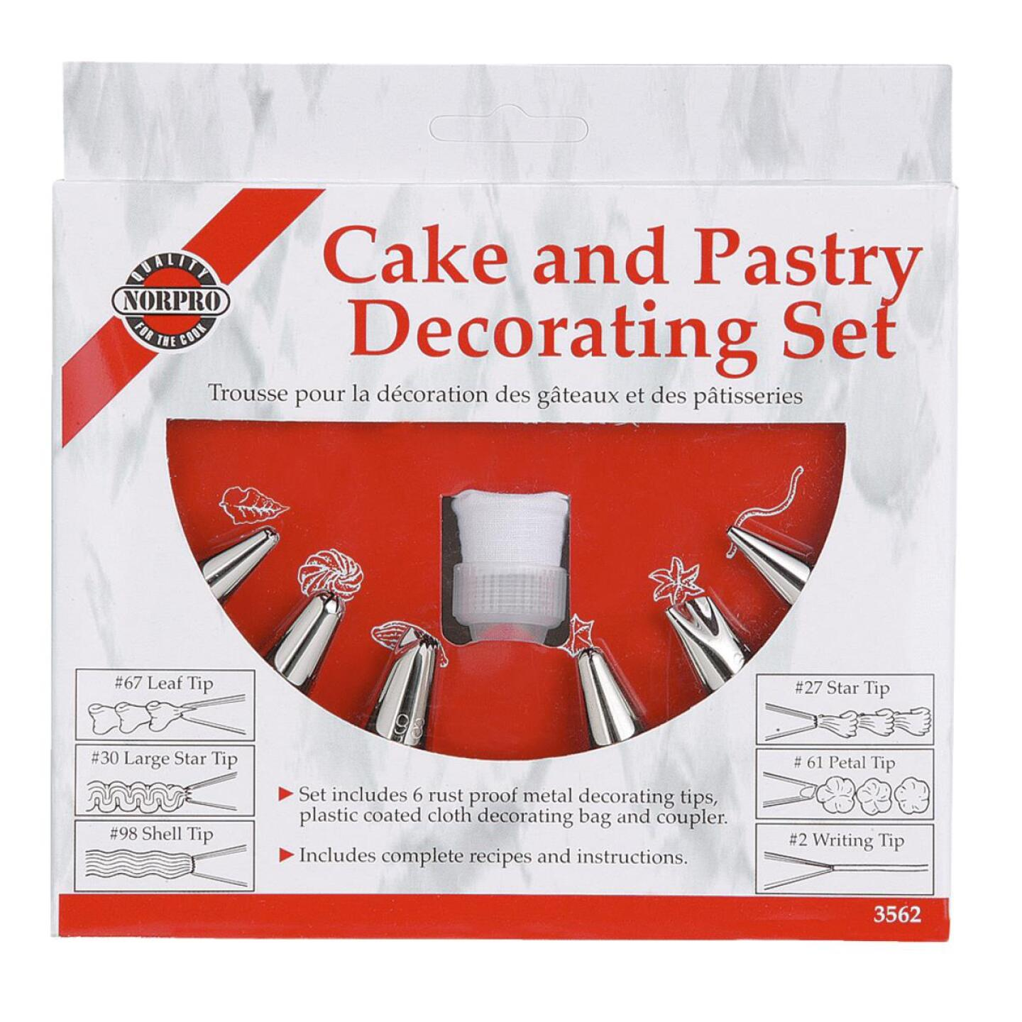 Norpro Pastry Bag Decorating Kit (6 Tips) Image 1
