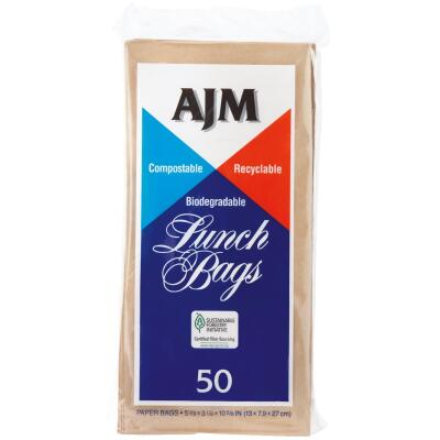 AJM Paper Lunch Bag (50-Count)