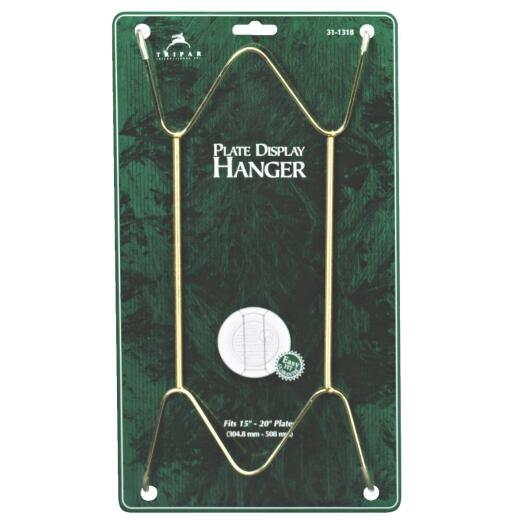 Tripar 15 In. to 30 In. Brass Wire Plate Hanger